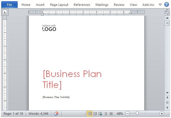 Ms Word Business Plan Template Business Plan Template for Microsoft Word