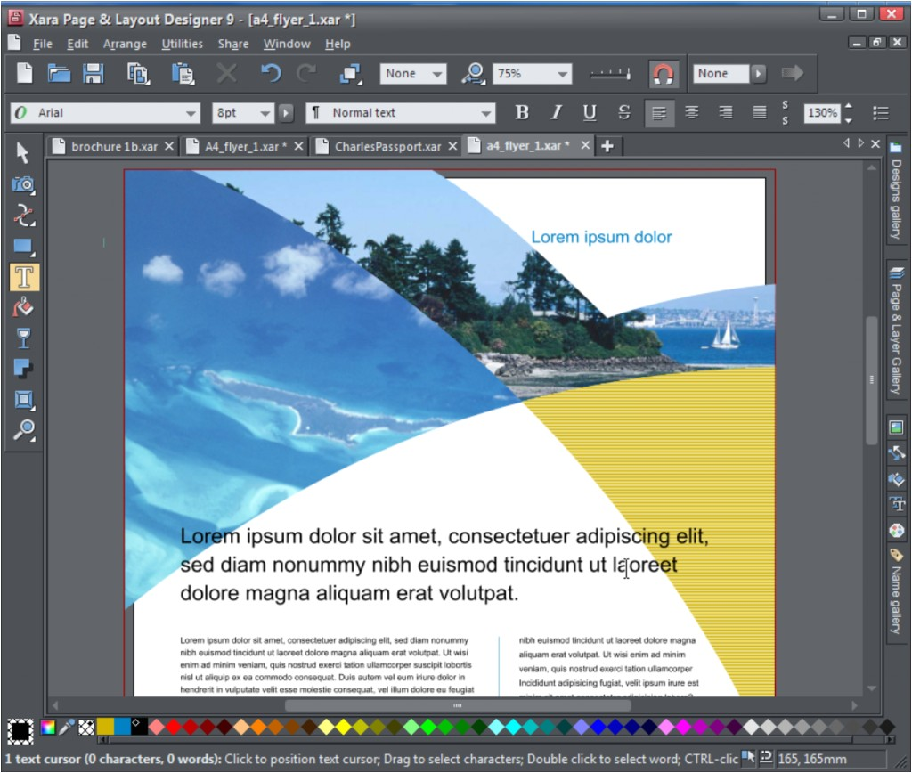 creating a multi page brochure