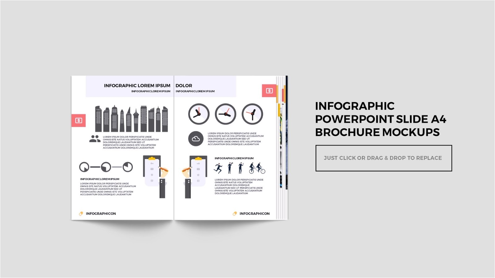 infographic multi page brochure
