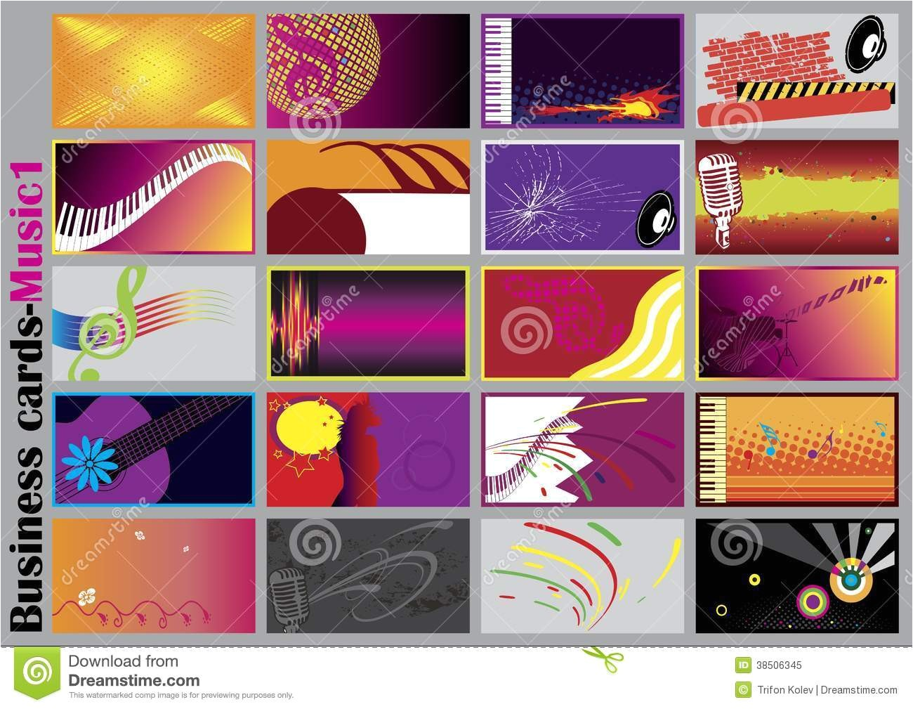 royalty free stock photo music business cards vector template image38506345