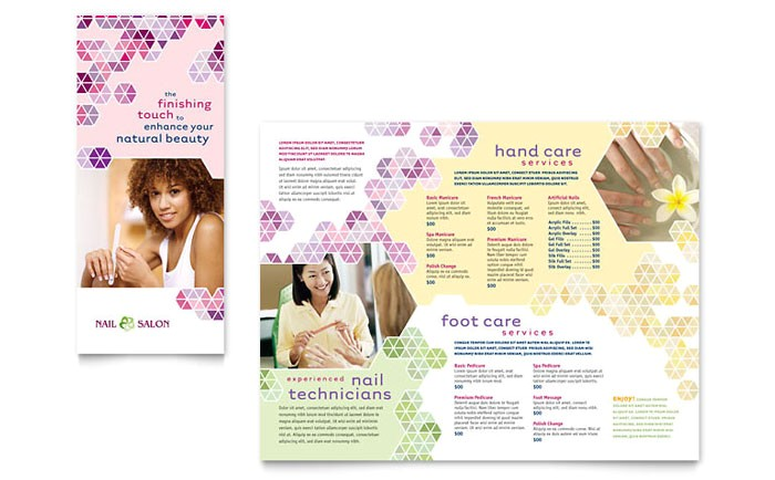 nail salon brochure template design gb0580101