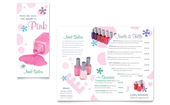 Nail Brochure Templates Free Nail Salon Brochure Template Design
