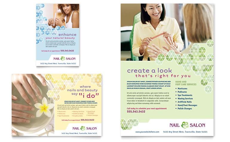 nail salon flyer ad templates gb0580701d