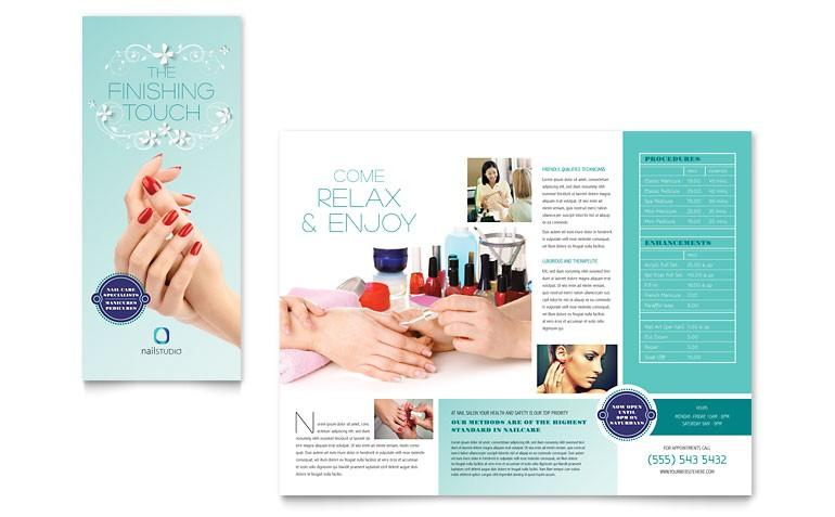 nail technician brochure templates hb0090101d