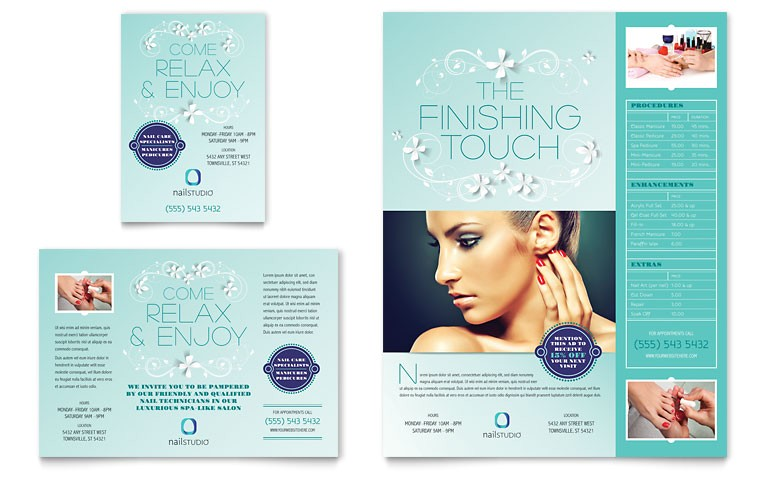 nail technician flyer ad templates hb0090701d
