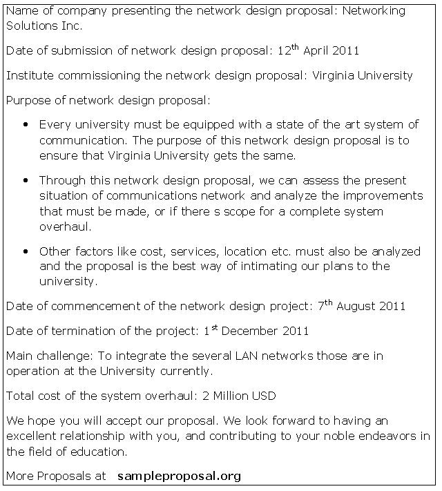 network design proposal