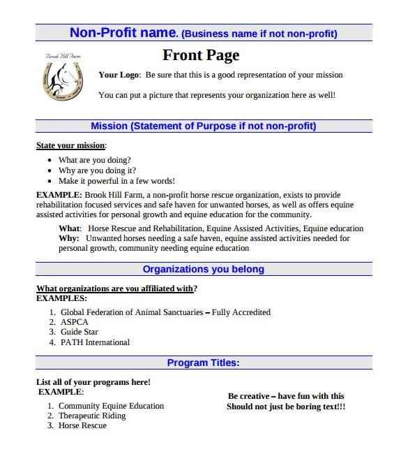 Non Profit Business Plan Template 21 Non Profit Business Plan Templates Pdf Doc Free