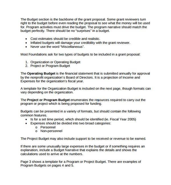 Non Profit Project Proposal Template 12 Non Profit Proposal Templates Sample Templates