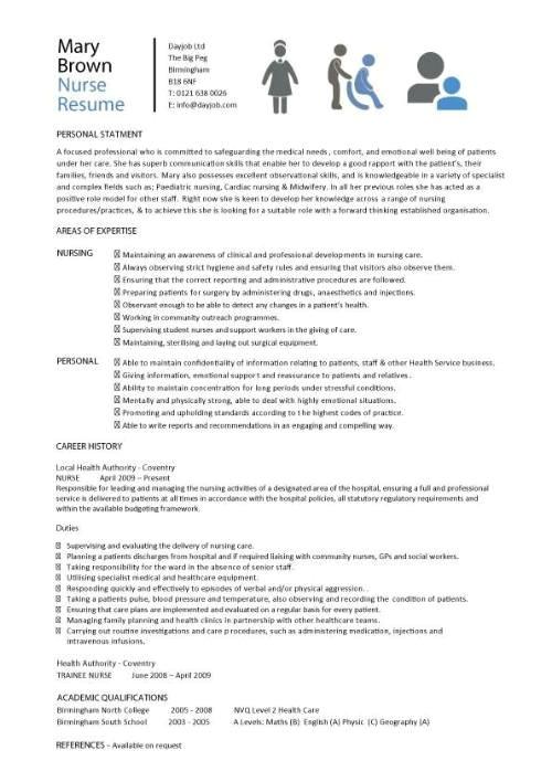 nursing cv template 242