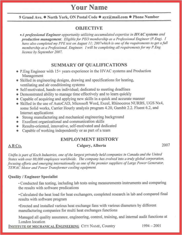 one employer resume sample