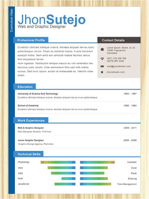 free professional online one page resume templates