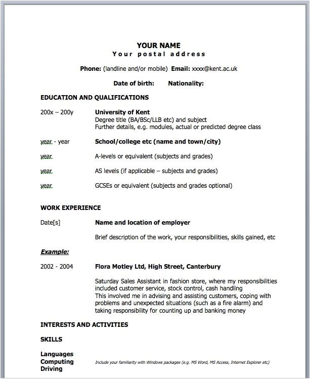 One Page Professional Resume Template One Page Resume Template Cyberuse