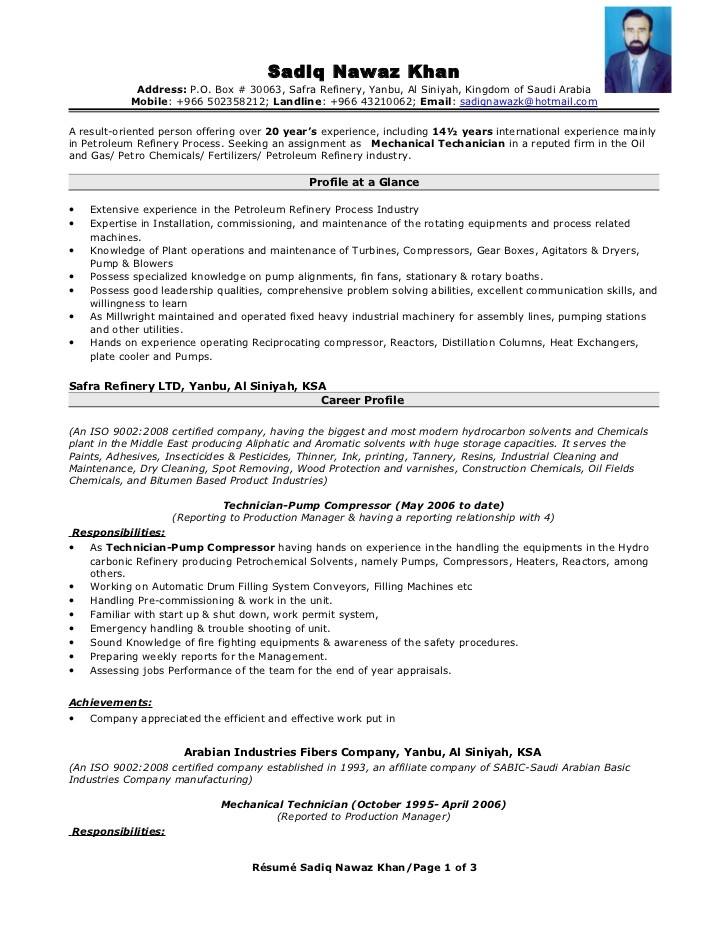 operating engineer resume