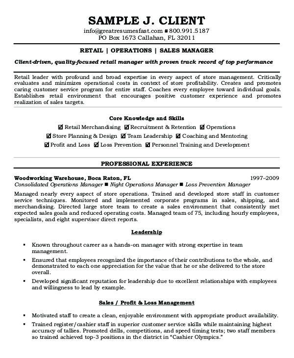 Operation Manager Resume Sample Doc Sales Manager Resume Sample Doc Annecarolynbird