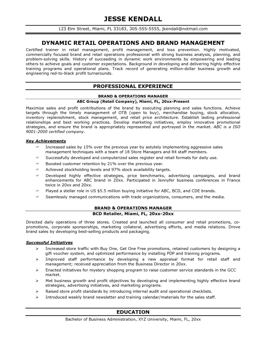 Operations Manager Resume Template Operations Manager Resume