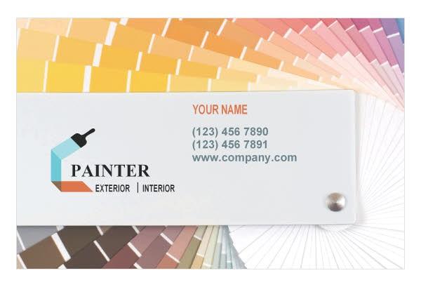 housepaintingcontractor business card template