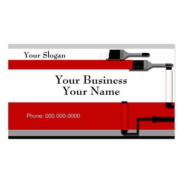 painter business card template 240856431564713699