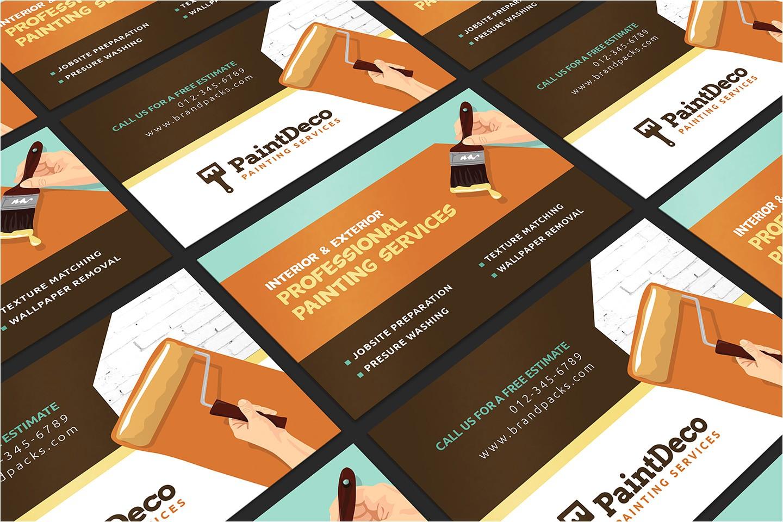 painter decorator business card template
