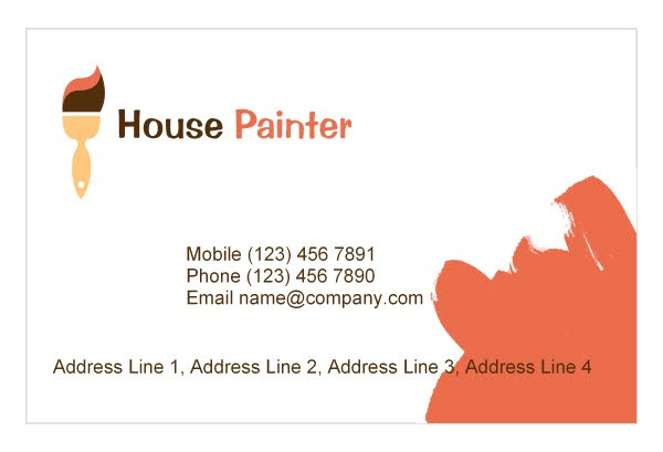 painting business card templates free 2