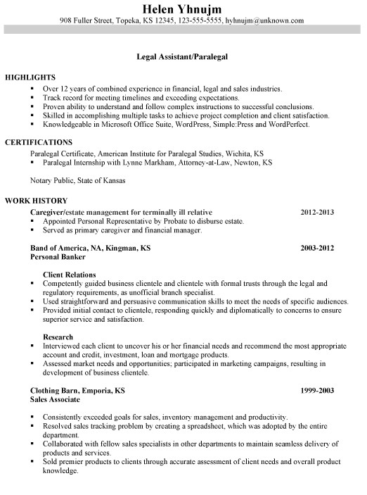 Paralegal Resume Templates Resume for A Legal assistant Paralegal Susan Ireland