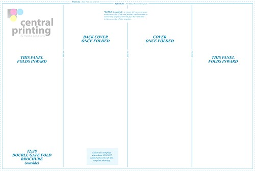 double parallel fold brochure template
