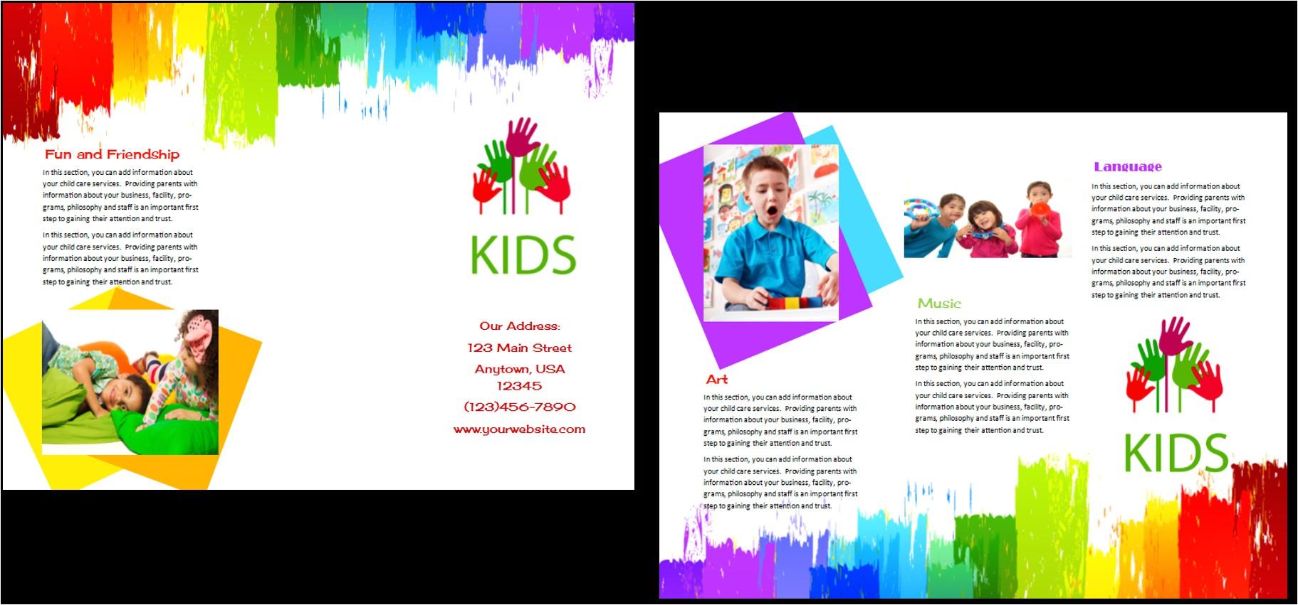 child care brochure template 9
