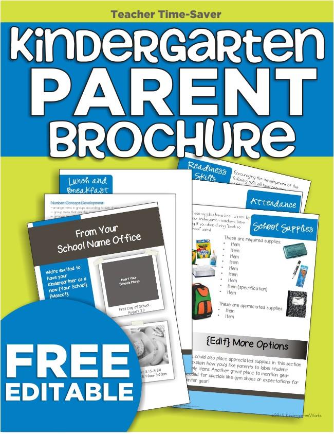 kindergarten parent brochure