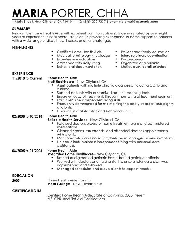 patient care technician resume objective examples