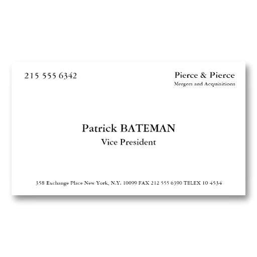 Patrick Bateman Business Card Template 156 0 Best American Psycho Images On Pinterest Ha Ha