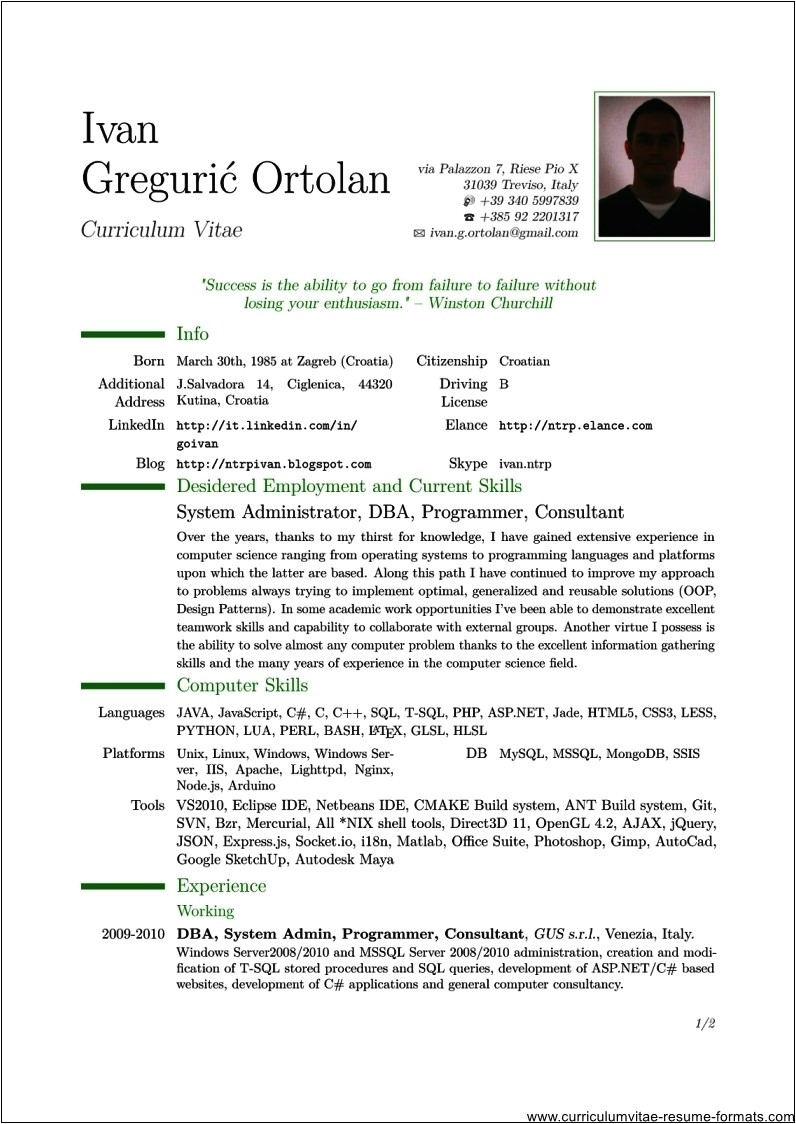 Pdf Resume Template Professional Resume Template Pdf Free Samples Examples
