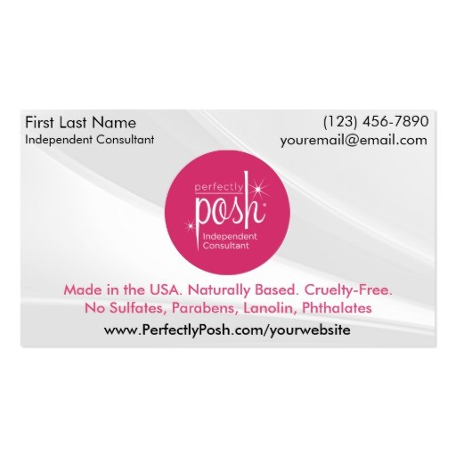 perfectly posh business cards 240563933518900396