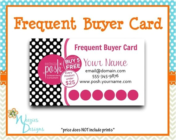 perfectly posh frequent buyer card