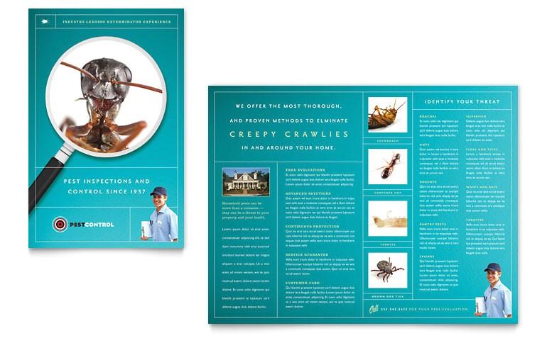 Pest Control Brochure Template Pest Control Services Brochure Template Word Publisher