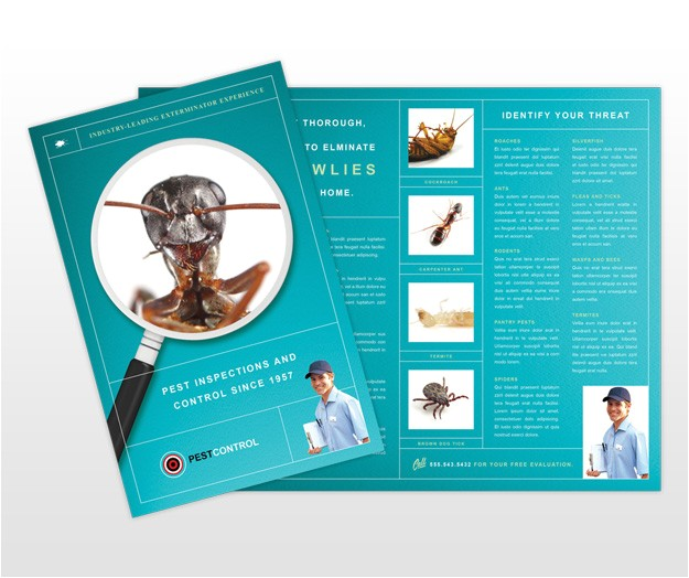 pest control services business brochure template