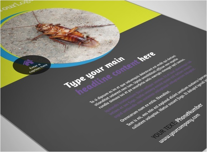 pest control services business flyer template type m