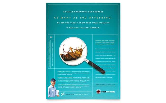 pest control services flyer template design gb0751501