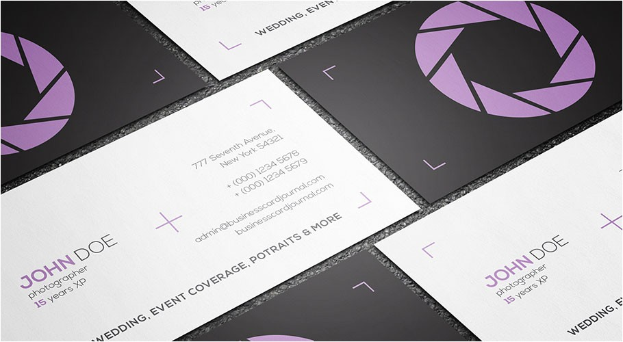 Photographer Business Cards Templates Free Free Clean Minimal Photography Business Card Template
