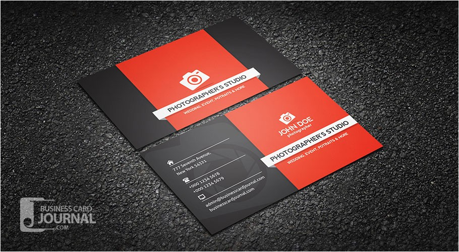 Photographer Business Cards Templates Free Free Professional Photography Business Card Template