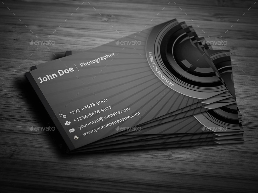 Photographer Business Cards Templates Free Photographer Business Card by Owpictures Graphicriver