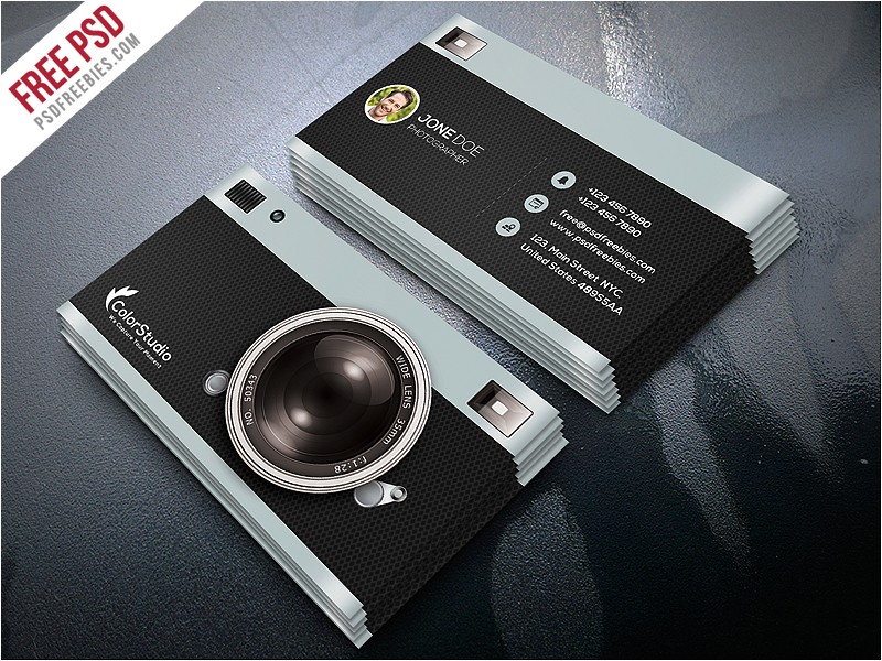 Photographer Business Cards Templates Free Photography Business Card Template Free Psd Psdfreebies Com