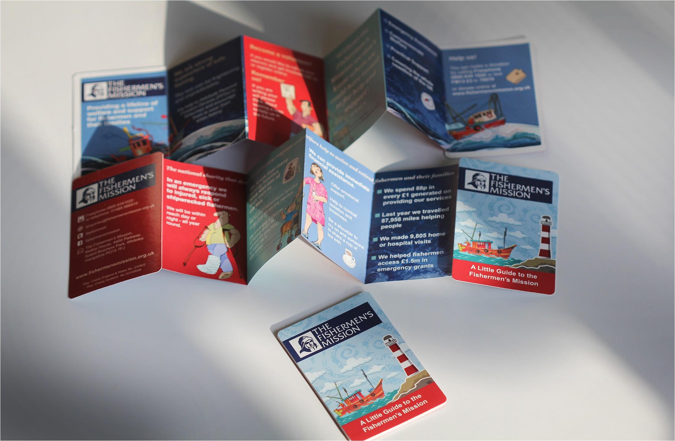 leaflet card design for mini brochure