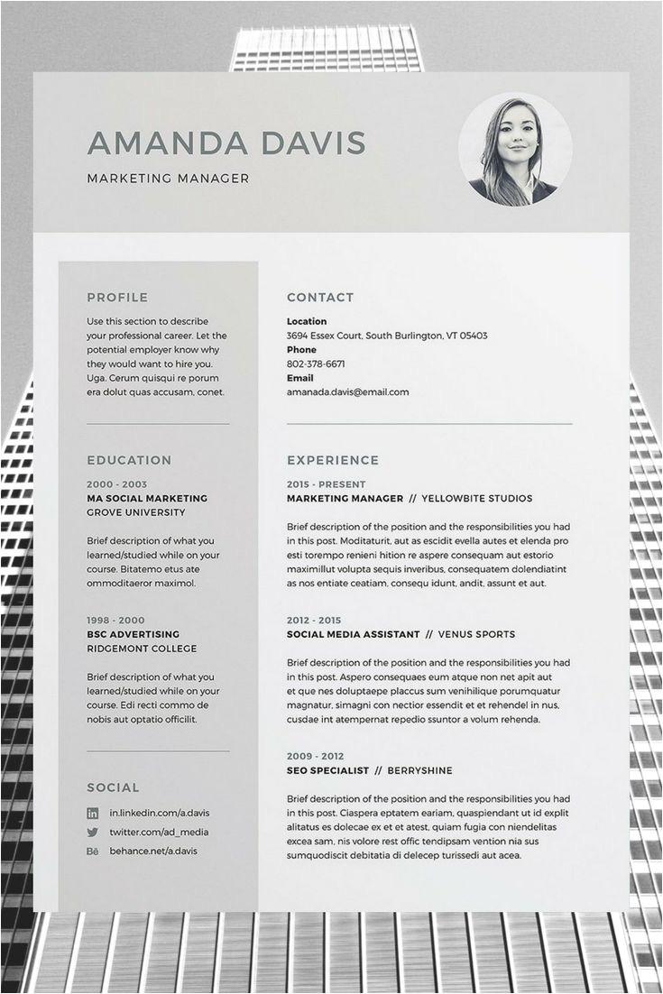 download polished resume doc template