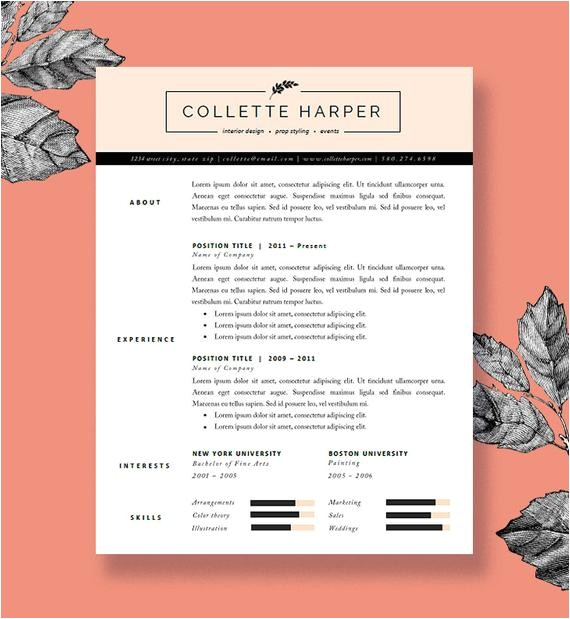 polished resume template and cover