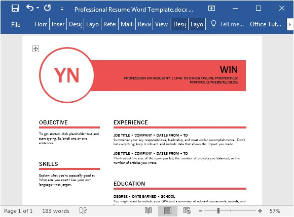 Polished Resume Templates Polished Resume Template for Word