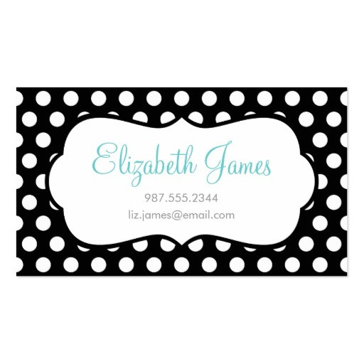 black polka dot business card template 240952046845996846