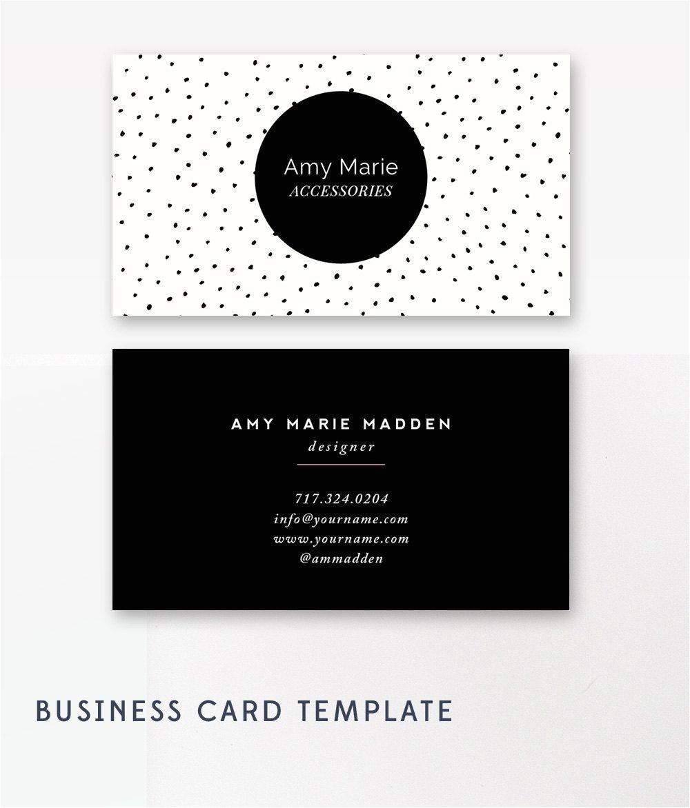 Polka Dot Business Card Templates Free Moo Business Cards Template Business Card Design
