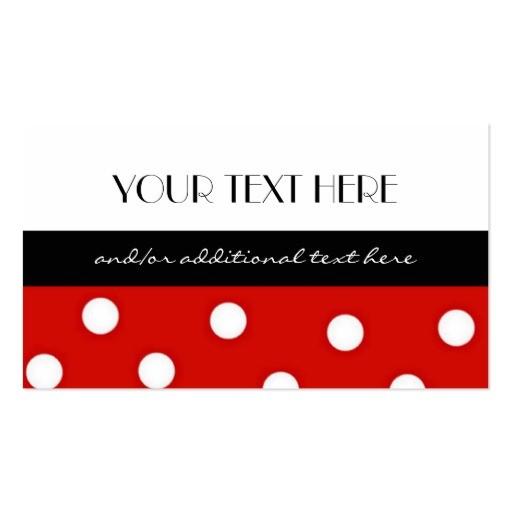 polka dot business card template 240291179951300637