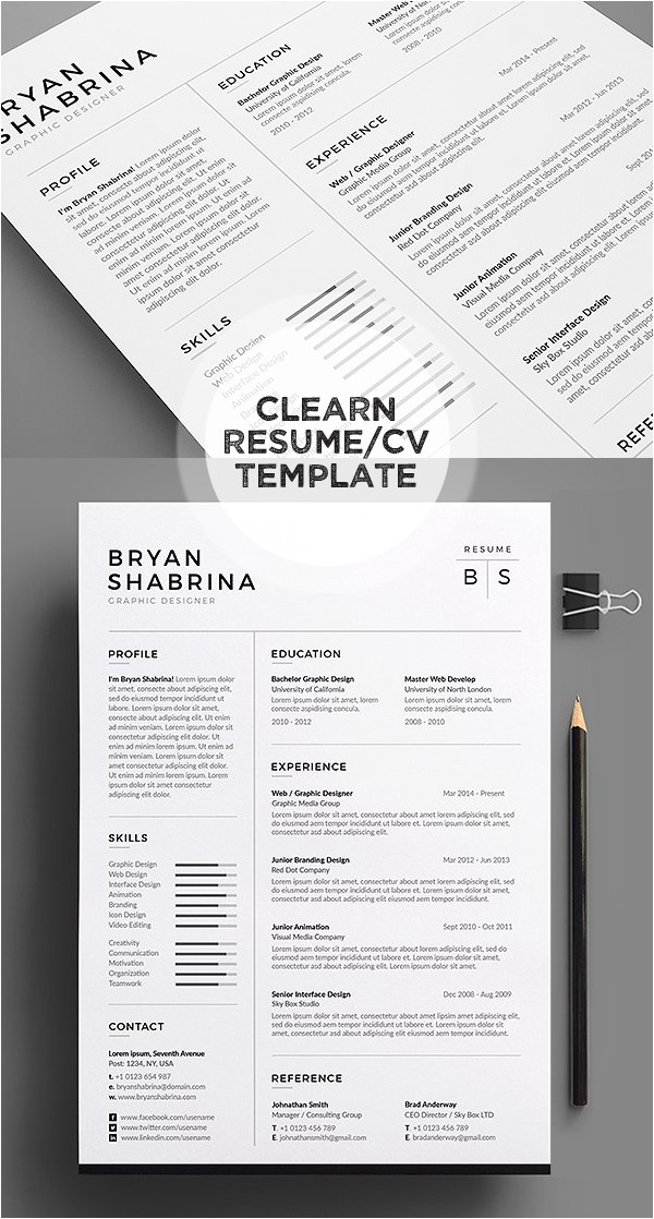 Popular Resume Templates 2018 50 Best Resume Templates for 2018 Design Graphic