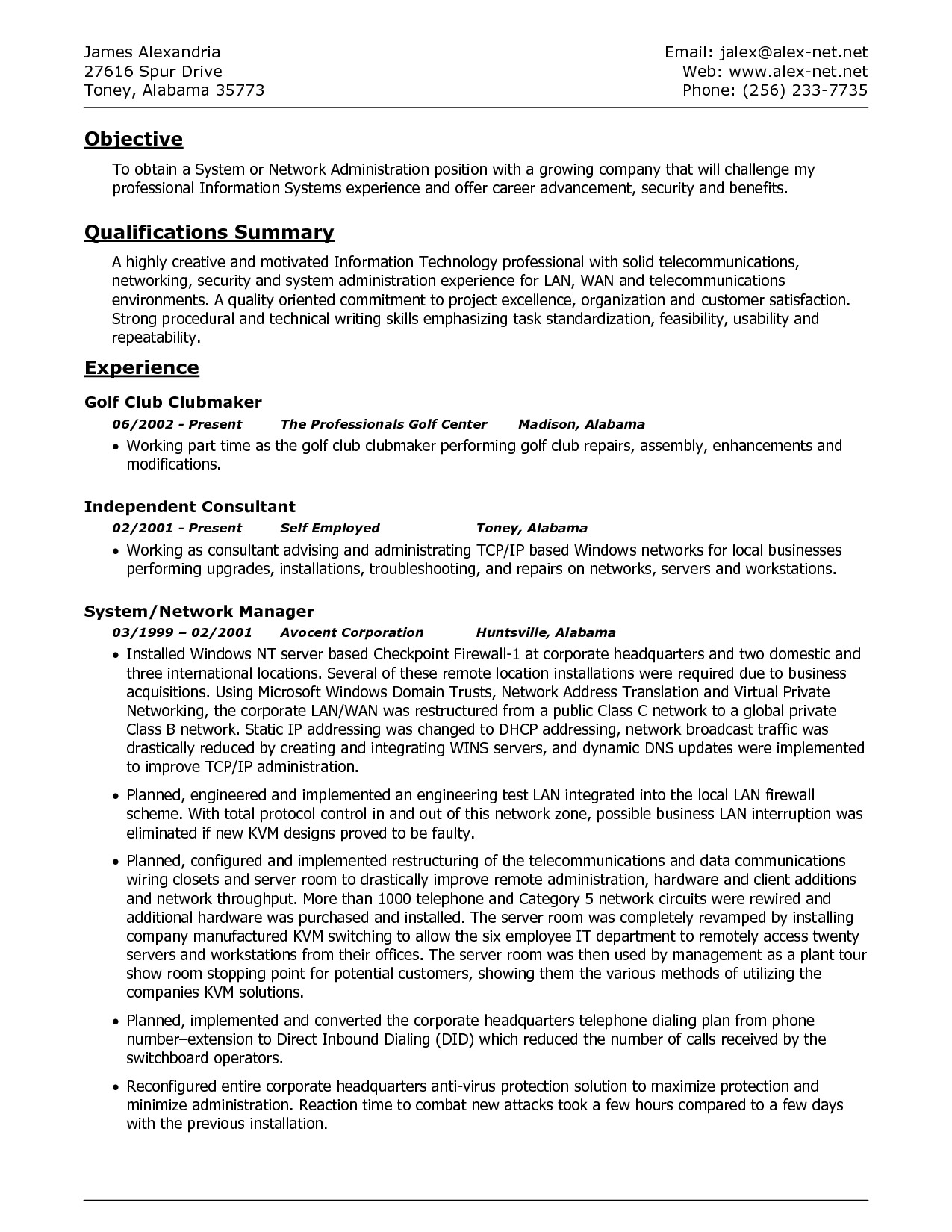 best resume template 2018