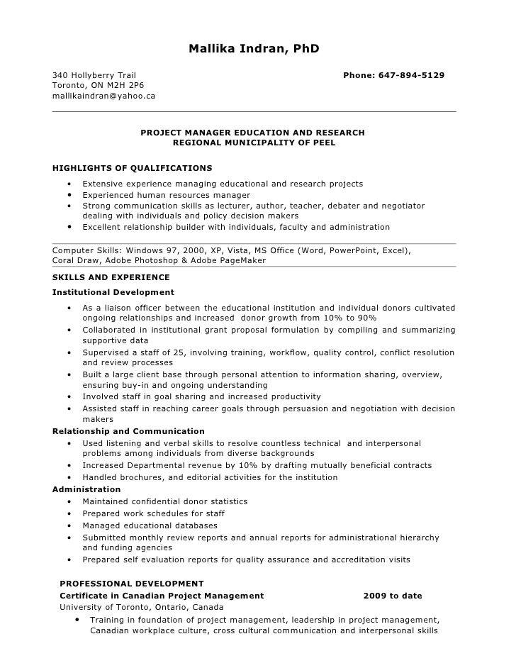 premed resume